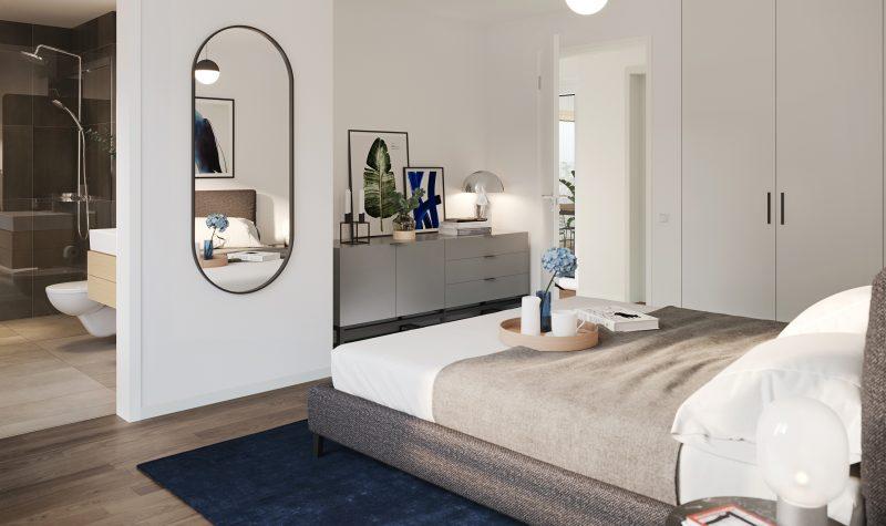 Helles und geräumiges Schlafzimmer in der Überbauung Strahmmatte Münchenbuchsee
