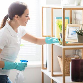 Reinigungsfrau an der Arbeit